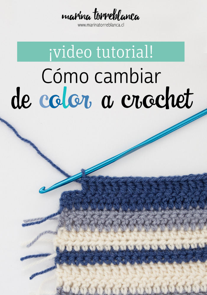 Como cambiar de color a crochet