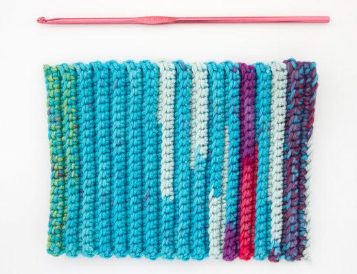 como tejer a crochet punto elastico