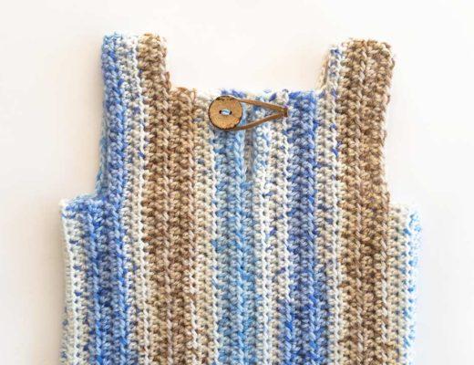 Chaleco sin mangas a crochet para 3 meses [Patron de tejido] marinatorreblanca.cl