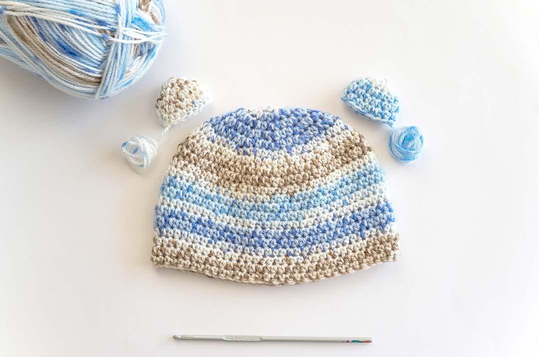 Como tejer el gorro perfecto a crochet sin fallar en tamaño