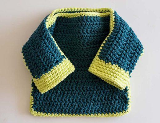 Patron gratuito de tejido, sueter para bebe muy facil a crochet - Blog de marinatorreblanca.cl