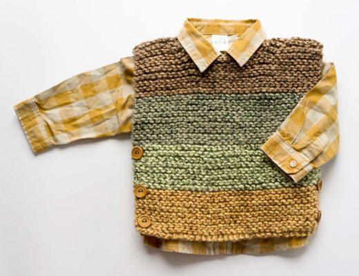 Patron de pechera de bebe a palillos para 3 a 6 meses, blog de marinatorreblanca.cl