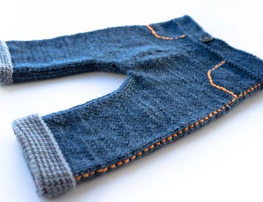 Instrucciones de tejido de pantalones para bebe a palillos